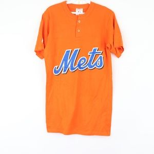 Majestic Mens Small New York Mets Henley Shirt